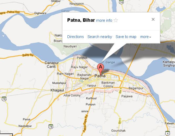 Patna In India Map.Check Patna Map Patna India